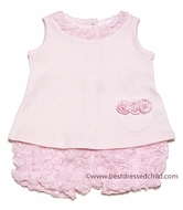 Baby Biscotti Infant Girls Pink Precious Rose Top & All Over Roses Bloomers
