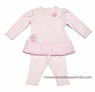Baby Biscotti Infant Girls Pink Precious Roses Pants Set