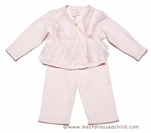 Baby Biscotti Infant Girls Pink Rolling in Tulle Ruffles Pants Set