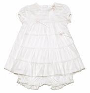 Baby Biscotti Infant Girls Sweet Ivory Lace Dainty Baby Dress with Bloomers