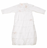 Baby Biscotti Infant Girls Sweet Ivory Lace Dainty Baby Gown