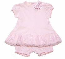 Baby Biscotti Infant Girls Sweet Pink Tutu Dress with Bloomers