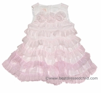 Baby Biscotti Infant / Toddler Girls Ethereal Frothy Pink Tiered Sleeveless Dress