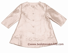 Baby Biscotti Infant / Toddler Girls Fairest of All Pink Silk Dressy Dress Coat
