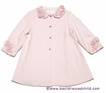 Baby Biscotti Infant / Toddler Girls Ice Princess Velveteen Coat - Pink