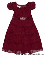 Baby Biscotti Infant / Toddler Girls J'Adore Crinkle Christmas Dresses - RED