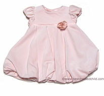 Baby Biscotti Infant / Toddler Girls PINK Swan Velvet Bubble Dress with Flower - Includes Matching Coat