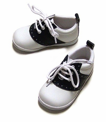 Angel Shoes Children S Navy Blue Amp White Leather Saddle Shoes