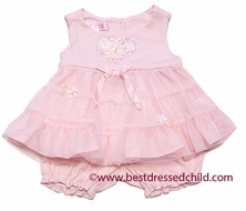 Biscotti Baby Girls Pink Hearts Delight Bloomers Outfit