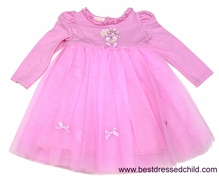Biscotti Baby / Toddler Girls Sweet Pink Tulle Ballerina Dress with Rosette Heart