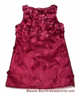 Biscotti Girls Falling for Dots Sleeveless Party Dress - Shimmering Christmas Red