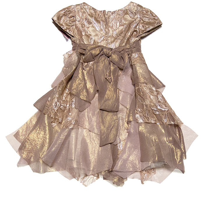 Biscotti Infant Toddler Girls Good As Gold Tiered Lace