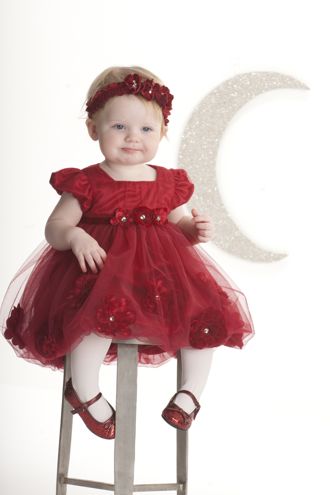 Toddler Girl Christmas Dresses image