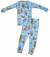 Books to Bed Boys Pajamas & Optional Story Book - Blue Knights & Dragons