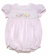 Carriage Boutiques Baby Girls Pink Bubble - Smocked Song Birds