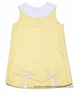 Claire and Charlie Girls Yellow / White Dots Sleeveless Dress