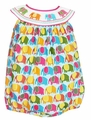 Claire & Charlie Baby Girls Bright Elephants Print Smocked Elephant Bubble
