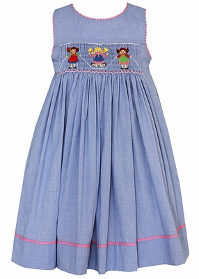 Claire Amp Charlie Blue Check Smocked Jumping Rope Girls