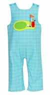 Claire & Charlie Infant / Toddler Boys Turquoise Plaid Golf Theme Longall