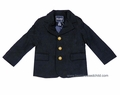 E Land Kids Boys Classic Traditional Navy Blue Wool Blazer Sport Coat - Fully Lined