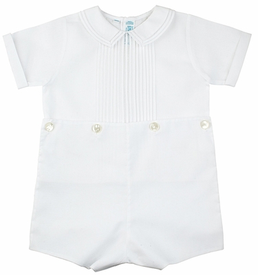 Feltman Brothers Infant / Toddler Boys Dressy White Button On Suit