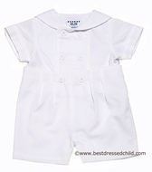 Florence Eiseman Baby Boys Dressy White Pincord Sailor Button On Suit