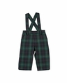 Florence Eiseman Baby / Toddler Boys Navy Blue / Green / Red Plaid Suspender Pants