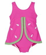 Florence Eiseman Baby Girls Bright Pink Novelty Watermelon Seeds Bathing Suit