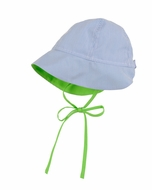 Florence Eiseman Baby / Toddler Boys Blue Pincord Lime Pops Sun Hat