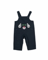 Florence Eiseman Baby / Toddler Boys Navy Blue Twill Longall with Puppy Dog Face