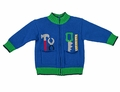 Florence Eiseman Baby / Toddler Boys Royal Blue Zip Front Sweater with Tools