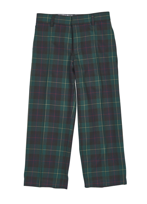 Florence Eiseman Boys Green / Navy Blue Blackwatch Plaid Dress Pants