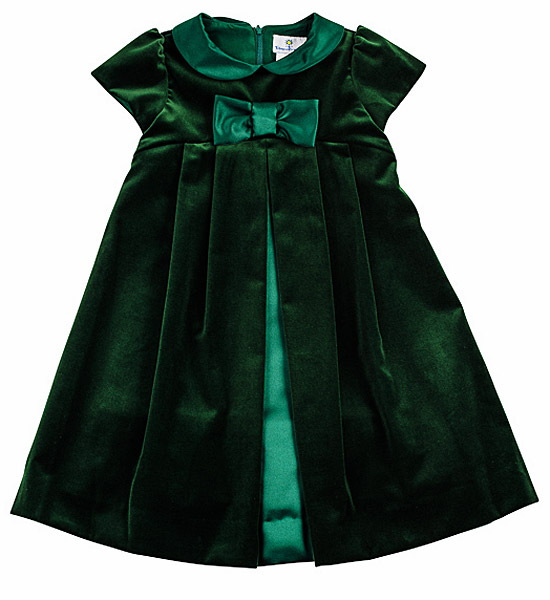Green Velvet Holiday Dresses - Long Dresses Online