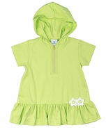 Florence Eiseman Girls Lime Green Cover Up Dress with Hood