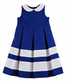 Florence Eiseman Girls Royal Blue Pique Crisp & Clear Dress