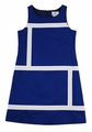 Florence Eiseman Girls Royal Blue Pique Crisp & Clear Sheath Dress