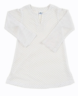 Florence Eiseman Girls White Crochet Cover Up Tunic - Long Sleeves