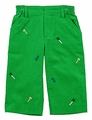 Florence Eiseman Infant / Toddler Boys Green Corduroy / Embroidered Tools - Pants