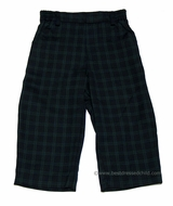 Florence Eiseman Infant / Toddler Boys Navy Blue / Green Holiday Plaid Pull On Pants