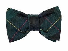 Florence Eiseman Infant / Toddler Boys Navy Blue / Green / Red Plaid Clip-On Bow Tie
