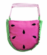 Florence Eiseman Little Girls Pink Watermelon Seeds Tote Bag / Purse