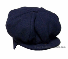 Florence Eiseman TF Laurence Infant / Toddler Boys Navy Blue Fleece News Boy Style Hat