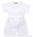 Frances Johnson Baby Boys White Linen Button On Dressy Shorts