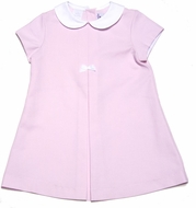 Frances Johnston / Simi Girls Pink Pique Easter Dress with White Collar