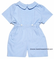 Frankie by Luli and Me Infant Baby Boys Dressy Button On Suit - BLUE