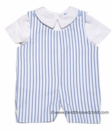 Frankie by Luli and Me Infant / Toddler Boys Blue / White Striped John John with Shirt