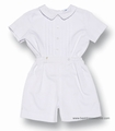 Frankie by Luli & Me Infant Boys Dressy WHITE Button On Outfit