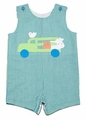 Funtasia Baby / Toddler Boys Blue / Green Striped Farm Animals on Tractor Shortall