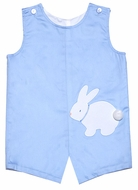 Funtasia Baby / Toddler Boys Reversible Shortall - Blue with Easter Bunny / White with Sailboats
