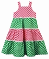 Funtasia Girls Pink / Green Tiered Sun Dress